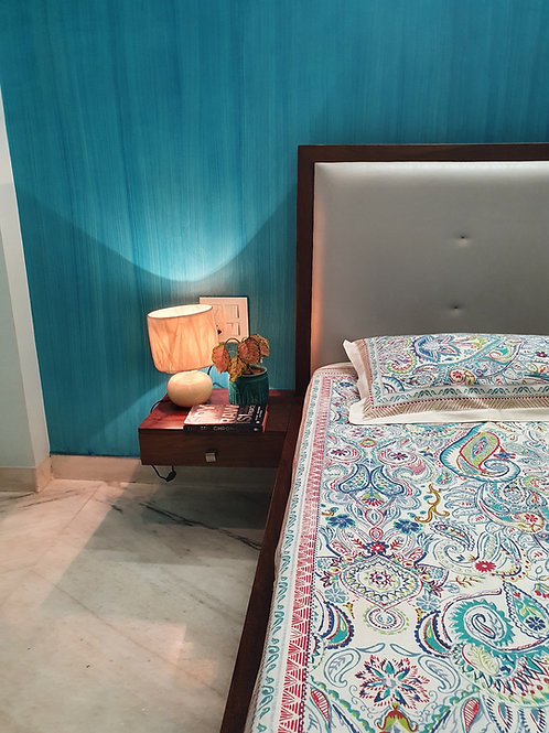 White Mandala Cotton Bedcover