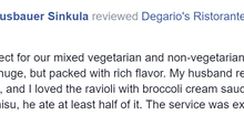 Heather S. Just left Degario's a Five Star Review!