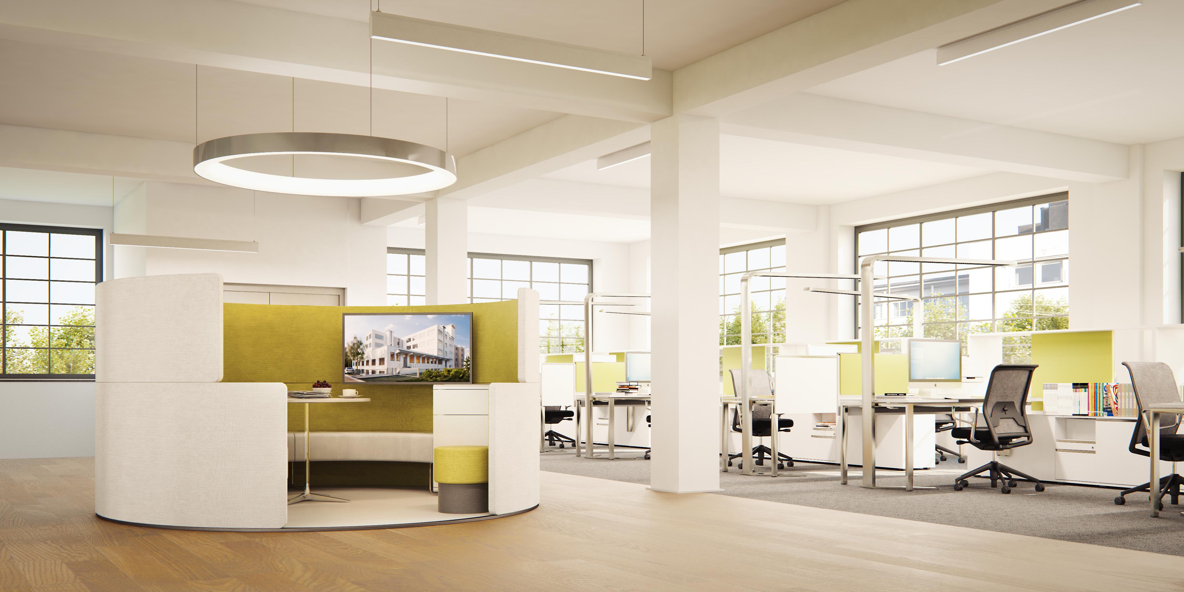 Einzel-, Team- und Großraumbüros