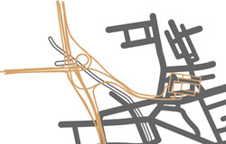 1960s proposed road layout