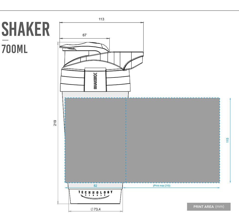 ShakerX Custom Printed Protein Shaker