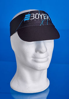 Running visor with custom printing
