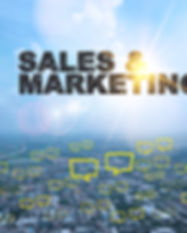 SALES AND MARKETING  text on city and sk