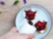 Yogurt di capra, barbabietola, viole _ G