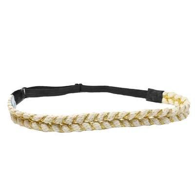 Headbands of Hope Beige Rope Headband