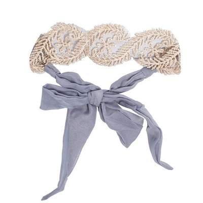 Headbands of Hope Grey Lace Tie Headband