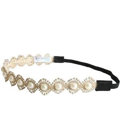 Headbands of Hope Gold Dainty Pearl Headband