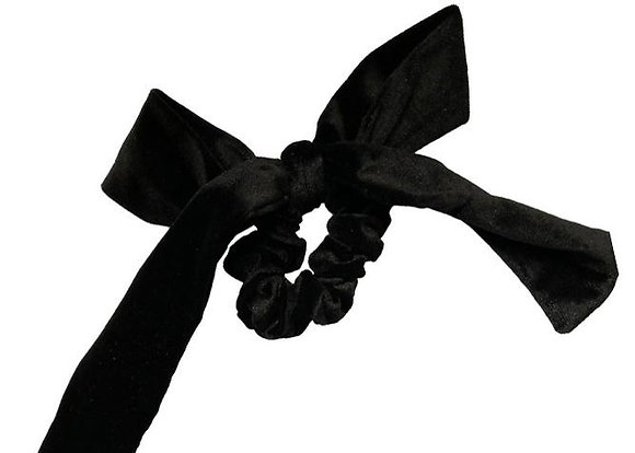 Headbands of Hope Black Velvet Scrunchie