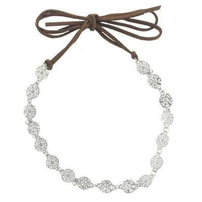 Headbands of Hope Silver Floral Choker/Headband