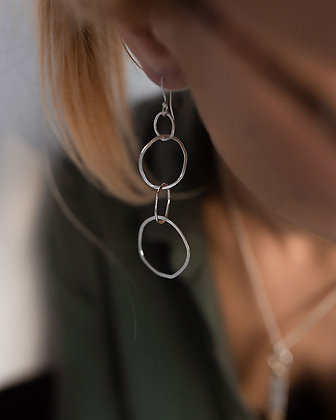 Silver Link Earrings