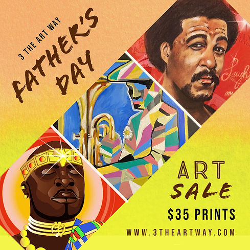 3 The Art Way Father's Day Art Sale TRIO