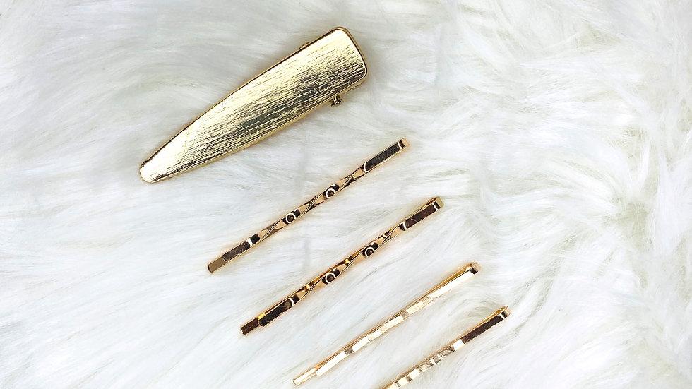Gold Hair Clip 1