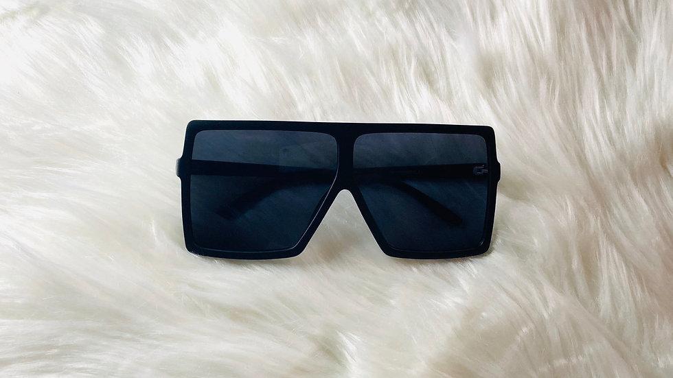 Oversized Black Matte Sunglasses