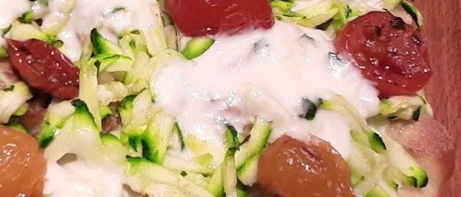 PRIMAVERA: Zucchine, stracchino e pomodorini semi dry