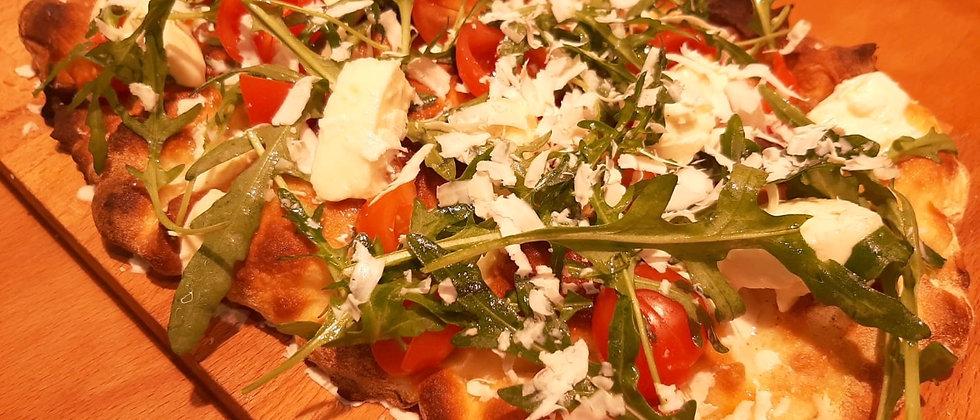 CRUDAIOLA: Pomodorini Cigliegini Bio, Mozzarella Fior di Latte, Rucola e Ricotta