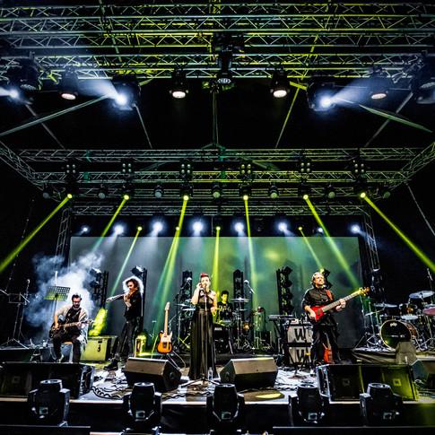 Rockabella on stage - Bucuresti