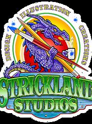 strickland studios dragon logo web cover