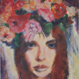Girl with Flowers 3