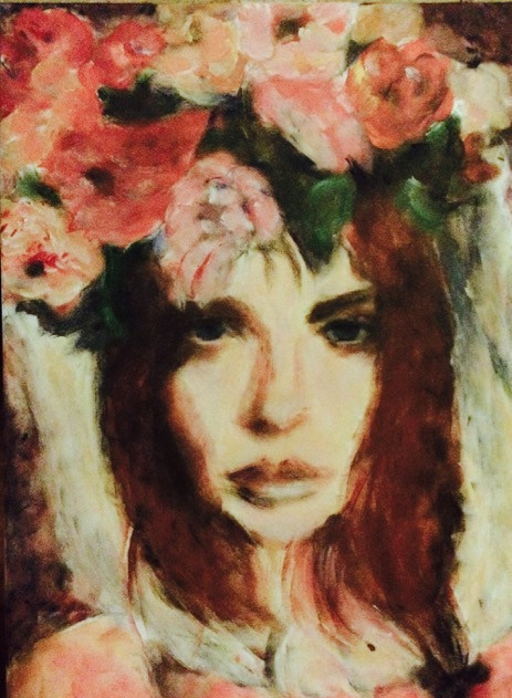 Girl with Flowers 4