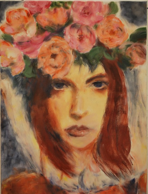Girl with Flowers 2