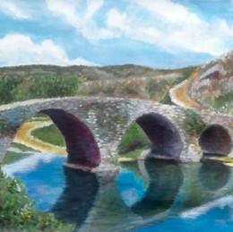 Stone bridge, old country