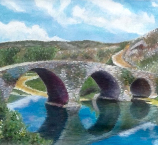 Stone bridge, old country