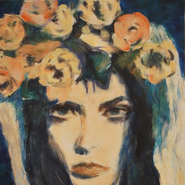 Girl with Flowers 1