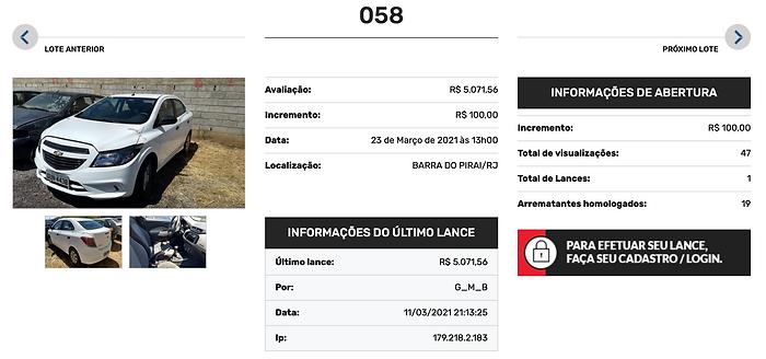 Leilão APL