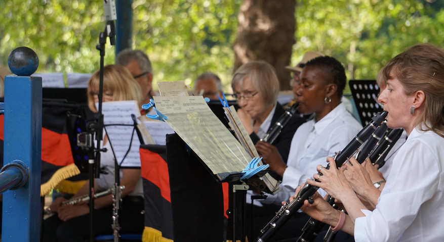 Clarinets and oboe