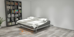 NeXt bed frame in open position