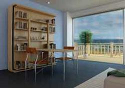 SmartBeds Matrimoniale Girevole Bookcase, desk and bed small