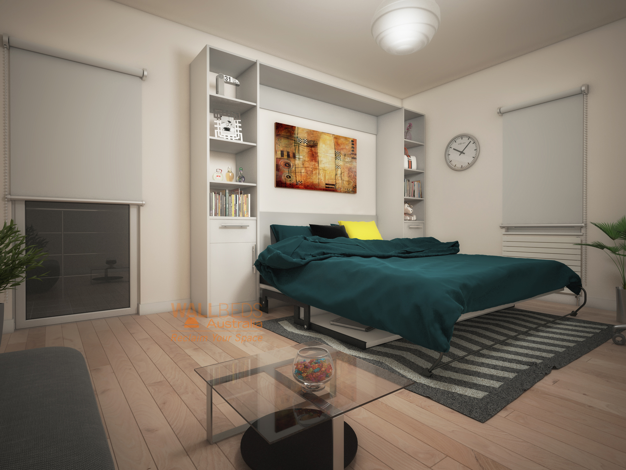 ALPHA bed with desk