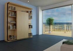 SmartBeds Matrimoniale Girevole Bookcase, desk