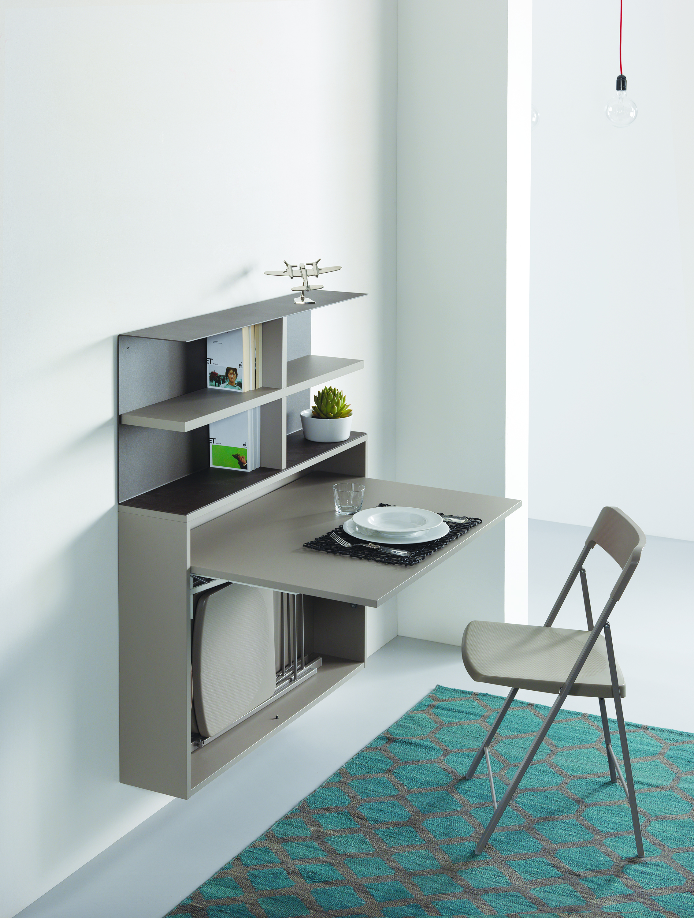 Wall mounted desks and tables