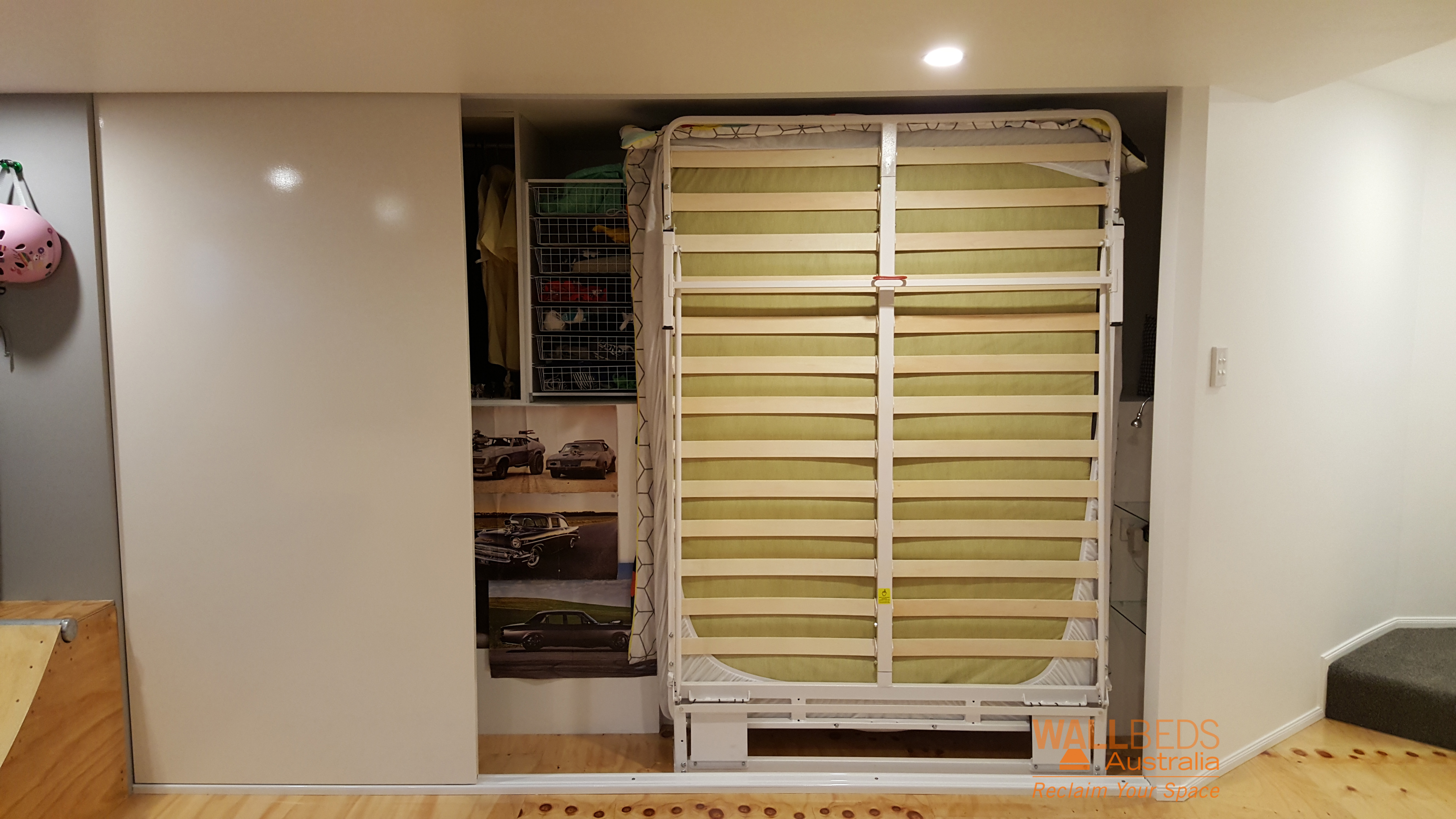 NeXt Bed frame in a closet