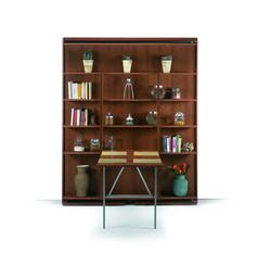SmartBeds Matrimoniale Girevole Bookcase, desk open