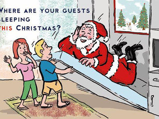 Where are your guests sleeping this Christmas?