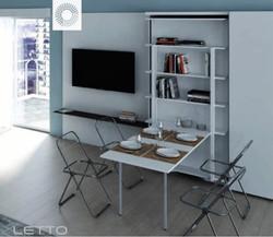 Single swivel bookcase bed