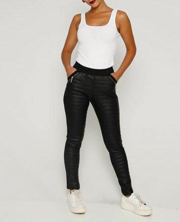 Half leather legging