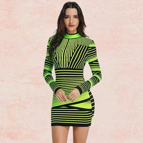 Symmetrical print dress