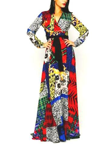 Drama print dress