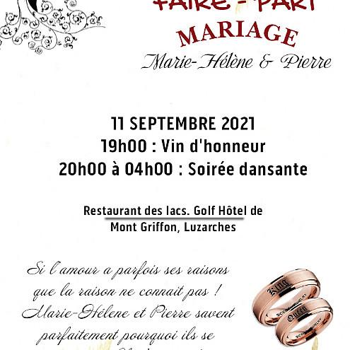 MARIAGE : Marie-Helene & Pierre