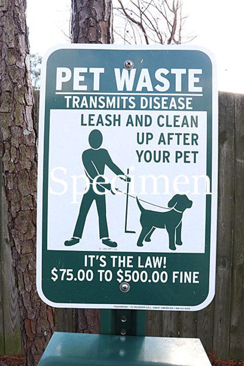PET Waste sign 01