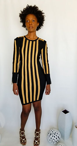 Gold striped