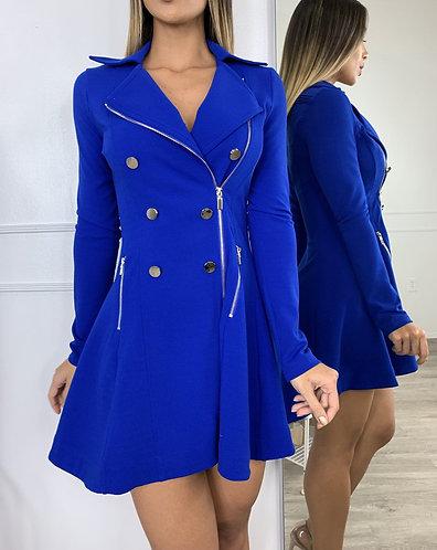 Blazza zipa mini dress