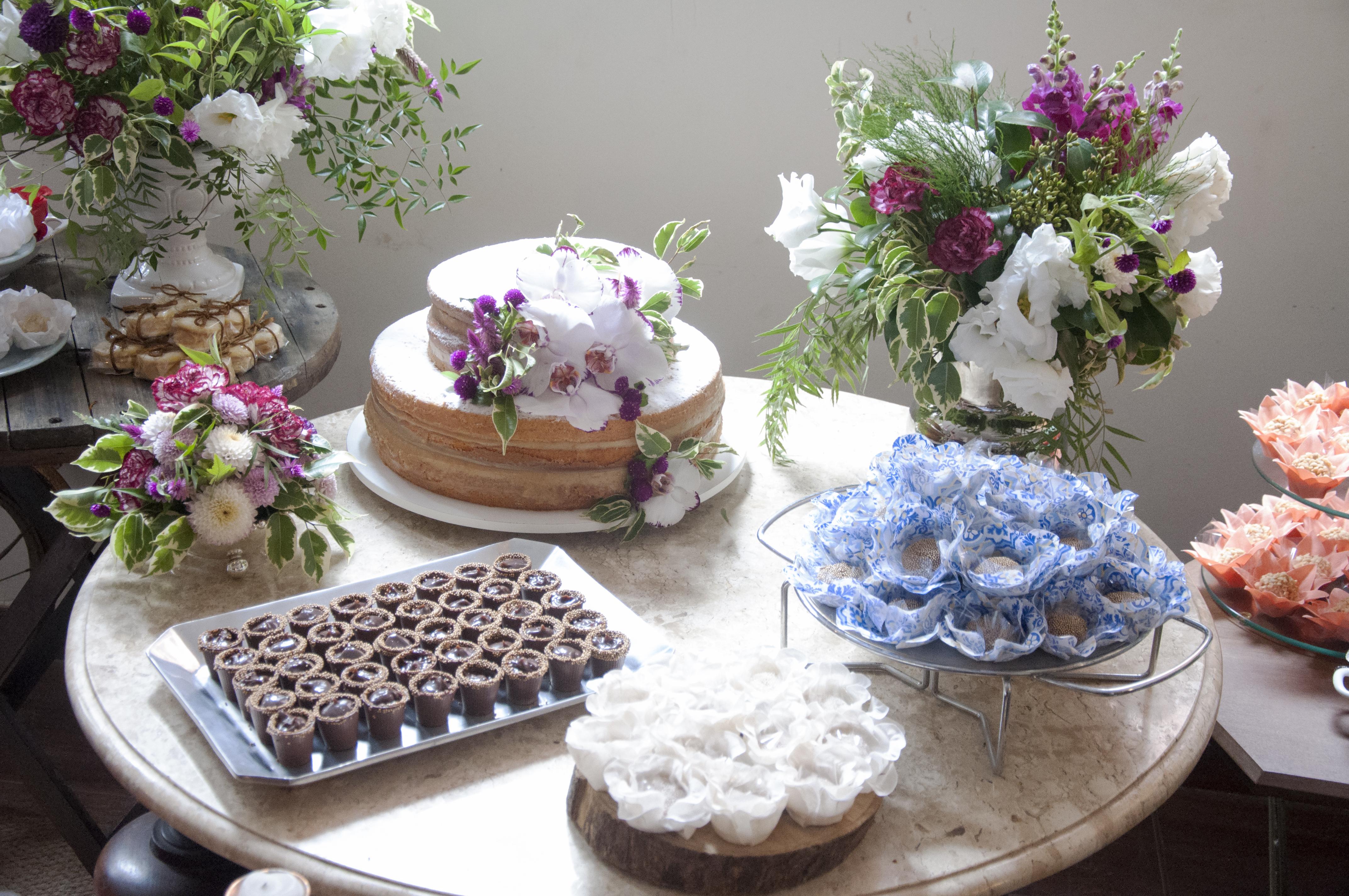 Mesa do bolo - Mini wedding