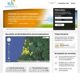 noord-holland zon monitoring