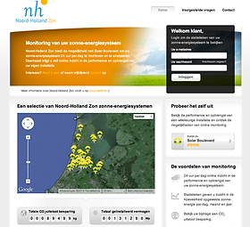 noord-holland zon monitoring