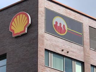 Zonnepanelen met print bij Shell