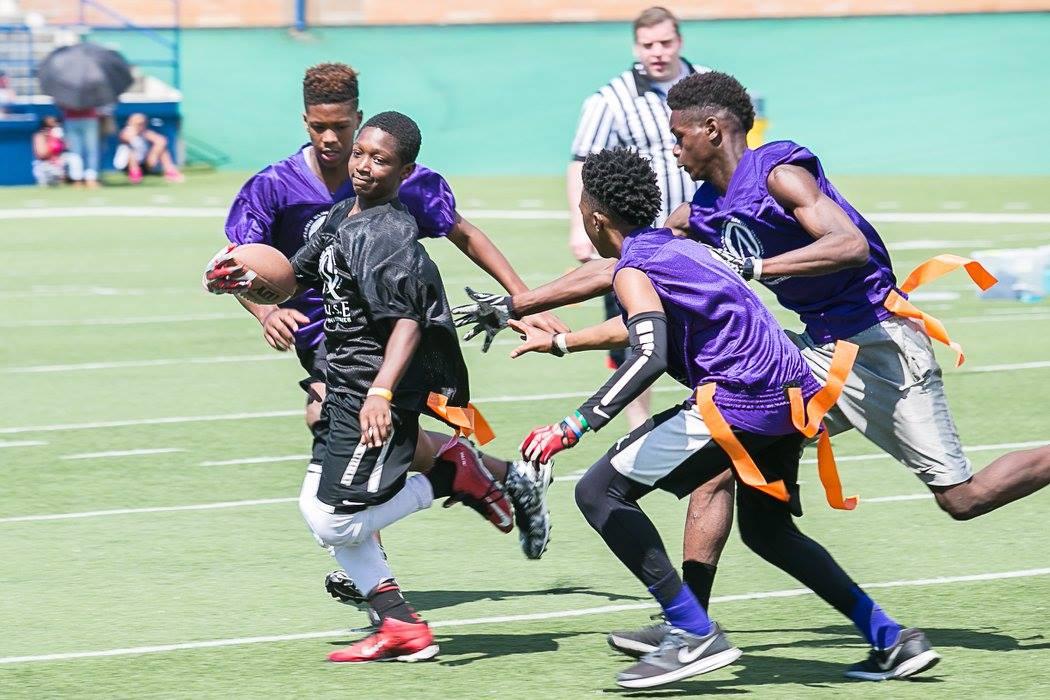 football action purple black